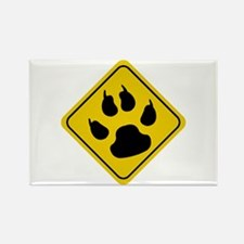 Cat Crossing Sign Rectangle Magnet