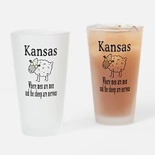 Kansas Sheep Drinking Glass