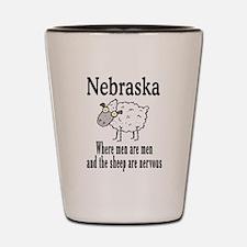 Nebraska Sheep Shot Glass