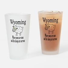 Wyoming Sheep Drinking Glass