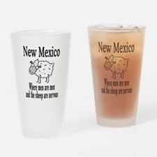 New Mexico Sheep Drinking Glass