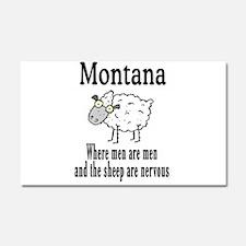 Montana Sheep Car Magnet 20 x 12