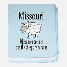 Missouri Sheep baby blanket