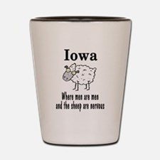 Iowa Sheep Shot Glass