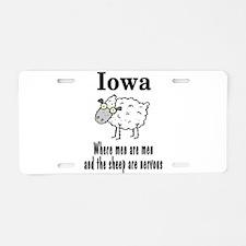 Iowa Sheep Aluminum License Plate