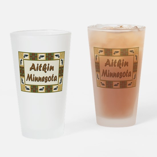 Aitkin Minnesota Loon Drinking Glass