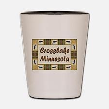 Crosslake Loon Shot Glass