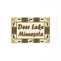 Deer Lake Loon Aluminum License Plate