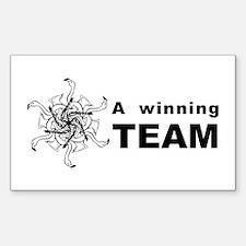 Winning Team Rectangle Decal