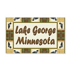 Lake George Loon 22x14 Wall Peel