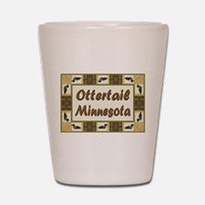 Ottertail Loon Shot Glass