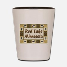 Red Lake Loon Shot Glass