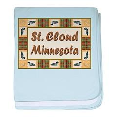 Saint Cloud Loon baby blanket