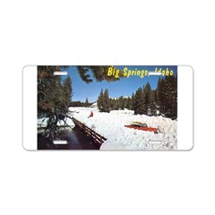 1950's Winter at Big Springs Aluminum License Plat