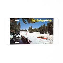 1950's Winter at Big Springs Aluminum License Plat