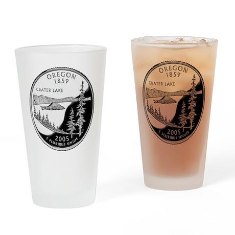 Oregon Quarter Drinking Glass