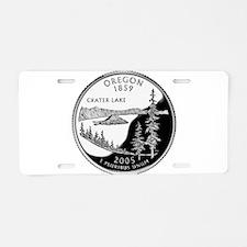 Oregon Quarter Aluminum License Plate