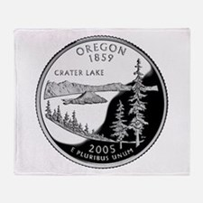 Oregon Quarter Throw Blanket