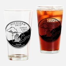 Michigan Quarter Drinking Glass
