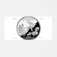 Oklahoma Quarter Aluminum License Plate