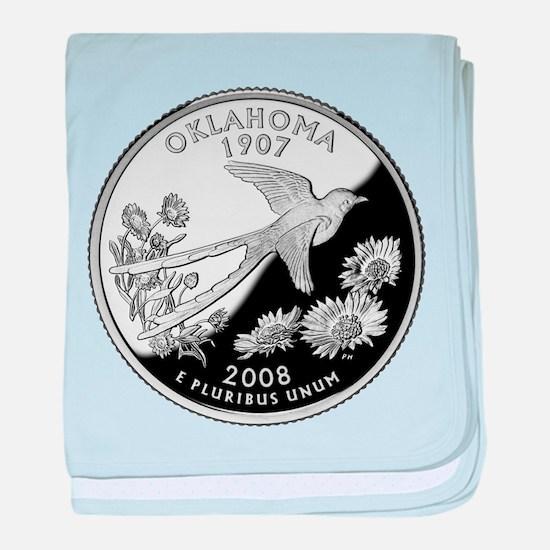 Oklahoma Quarter baby blanket