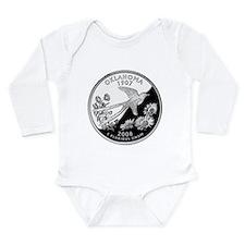 Oklahoma Quarter Long Sleeve Infant Bodysuit