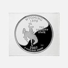 Wyoming Quarter Throw Blanket