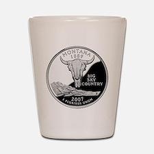 Montana Quarter Shot Glass