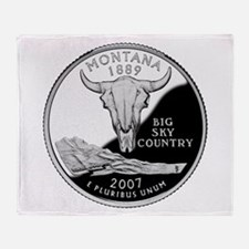Montana Quarter Throw Blanket