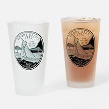 Rhode Island Quarter Drinking Glass