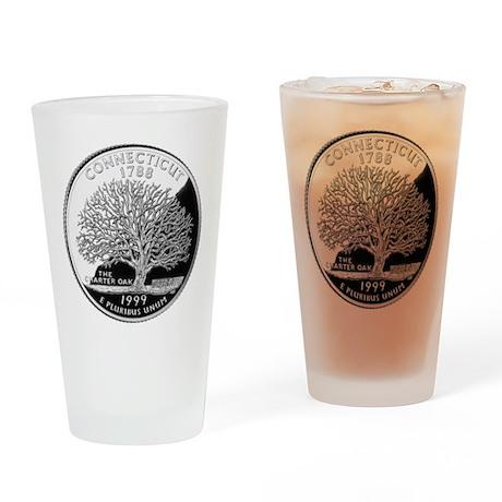 Connecticut Quarter Drinking Glass