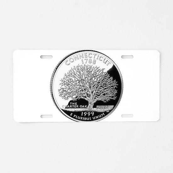 Connecticut Quarter Aluminum License Plate