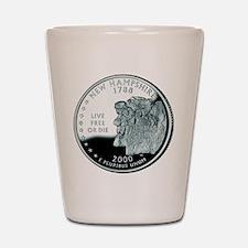 New Hampshire Quarter Shot Glass