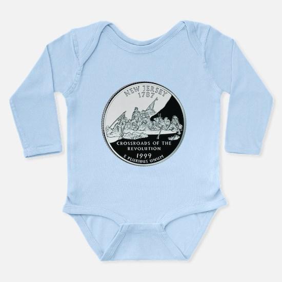 New Jersey Quarter Long Sleeve Infant Bodysuit