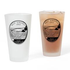 West Virginia Quarter Drinking Glass