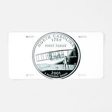 North Carolina Quarter Aluminum License Plate