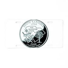 South Carolina Quarter Aluminum License Plate