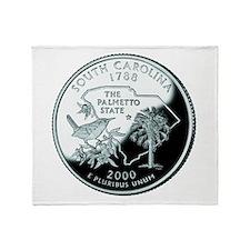 South Carolina Quarter Throw Blanket