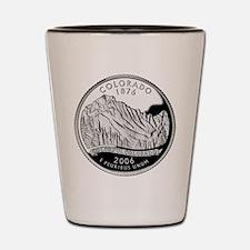 Colorado Quarter Shot Glass