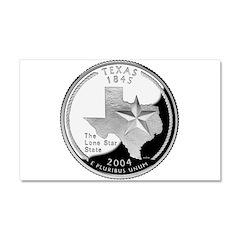 Texas Quarter Car Magnet 20 x 12