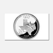 Texas Quarter Car Magnet 20 x 12