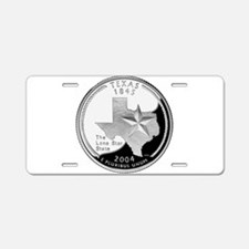 Texas Quarter Aluminum License Plate