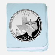 Texas Quarter baby blanket