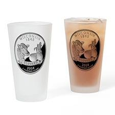 Wisconsin Quarter Drinking Glass