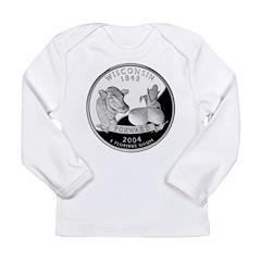 Wisconsin Quarter Long Sleeve Infant T-Shirt