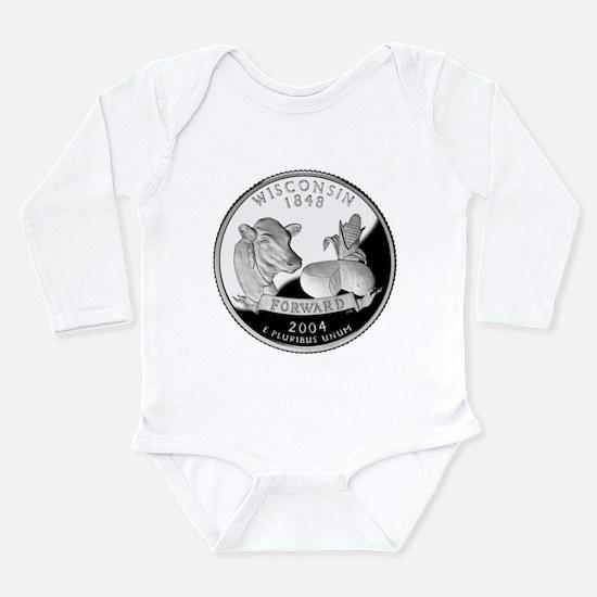 Wisconsin Quarter Long Sleeve Infant Bodysuit