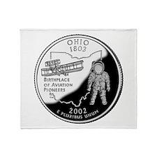 Ohio Quarter Throw Blanket