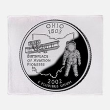Ohio Quarter Throw Blanket