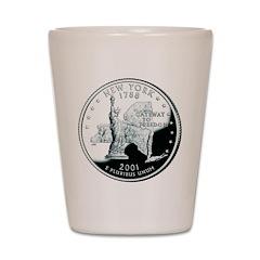 New York Quarter Shot Glass