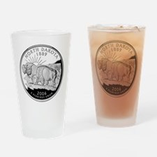 North Dakota Quarter Drinking Glass